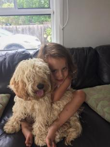 """""""Our Maggie Moo moo as Isla calls her. So much love for our puppy """""""