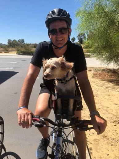 """Henry loves his bike rides!"""